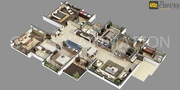 3D Floor Plan for Commercially